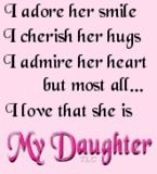 Daughters are sweet:)