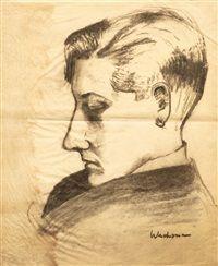 A. Wachsman - portrét básníka Josefa Friče