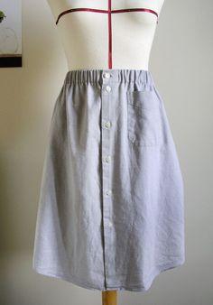 Resultado de imagen de faldas hechas con blusas de hombre
