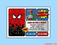 Spiderman Invitation  DIY Personalized Party by PupiloftheWorld, $12.00