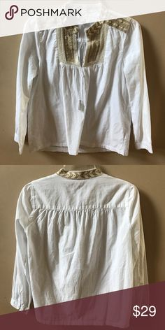 J.Crew Embroidered Blouse Great Condition! J. Crew Tops