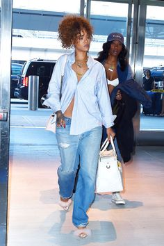 Get some major denim inspiration from Hailey Baldwin, Rihanna, Kourtney Kardashian and more.