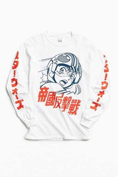 T-shirt design inspiration graphic tees long sleeve 49 ideas Graphic Shirts, Tee Shirts, Skater Shirts, Mode Kawaii, Design Café, Graphic Design, Movie T Shirts, Vintage Design, Mode Style