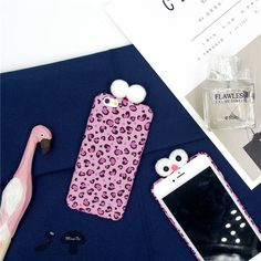 Luxury Cartoon Leopard Grain 3D Case For iphone 7 Case Fashion Lovely Winter Fuzzy Back Cover Phone Cases For iphone7 6 6S Plus | iPhone Covers Online