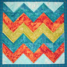 Inspired by Fabric: Chevron Mini Quilt