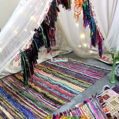 52 Best Chindi Rug Cheap Area Rag Rug Handmade Recycled Bohemian