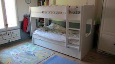 Découvrez le #lit #enfant #Superposé Spark blanc avec sommier #gigogne #blanc !