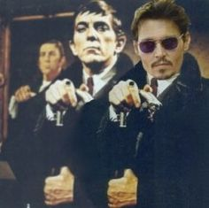 Jonathan Frid Johnny Depp