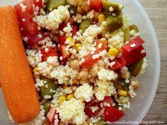 Naturalna kuchnia wegetariańska: Sałatka z kaszy jaglanej, ciecierzycy i warzyw do ...