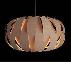 'Origami Lights' (flexible veneer) by Ashbee Design. Lamp Design, Diy Design, Origami Lights, Puzzle Lights, Luminaria Diy, Design Origami, Beautiful Home Gardens, Deco Luminaire, Beton Diy