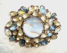 Fabulous Vintage Hobe Brooch Pin Silver Veined Jelly Belly | eBay