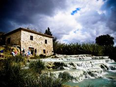 Hot Springs in Southern Tuscany!! Here is a terrific blog post that will make you be sure to pack a swimsuit. The first bath she describes (Terme di Petriolo)  is quite far from Benano, but Terme di Saturnia, Bagni San Filippo, Bagno Vignoni,  and Terme di Chianciano are each about an hour's drive from Benano (give or take 10 minutes on either side of an hour).  Acqua Borra is a little less than an hour and a half from Benano.