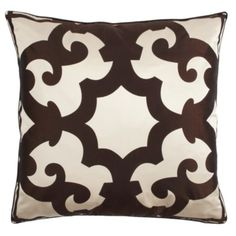 """Zgallerie.com.  Love this site! Bukhara Pillow 24"""" - Chocolate"""