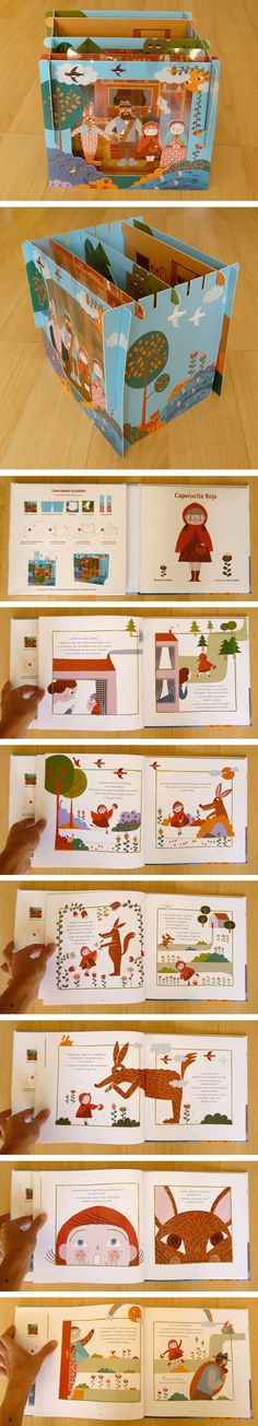 Little Red Riding Hood : Marta Antelo Cardboard Toys, Paper Toys, Paper Crafts, Art For Kids, Crafts For Kids, Tunnel Book, Toy Theatre, Paper Engineering, Red Riding Hood