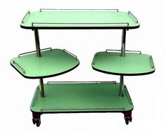 Modernist Hostess Art Deco trolley Muebles Art Deco, Art Nouveau Furniture, Bauhaus Design, Design Movements, Art Deco Home, Art Deco Design, Furniture Styles, Art Deco Fashion, Vintage Kitchen