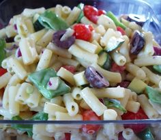 Your Inspiration at Home Macaroni Salad #YIAH #olive oil #vinegar