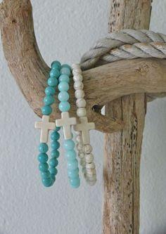 cross bracelet beach bohemian bracelet beach by beachcombershop