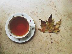 . Autumn Tea, Golden Leaves, Autumn Inspiration, I Fall, Tea Cups, Mugs, Tableware, Rainy Days, Sweater Weather