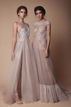 8183a5f298c Gorgeous champagne coloured sheer evening wedding gown Muse by Berta 2018  dress collectionall Winter 2018