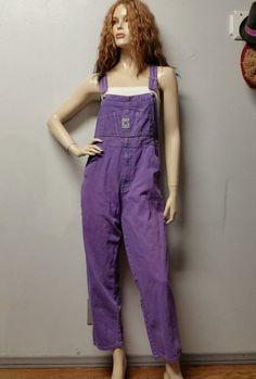 Vintage 80's Purple Denim  Overalls     Sz by GypsysTreasureCove