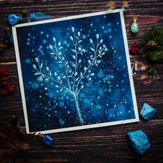 Watercolor nature star night flowers Star Night, Stars At Night, Night Flowers, Blue Art, Watercolor, Instagram Posts, Nature, Pen And Wash, Blue Artwork