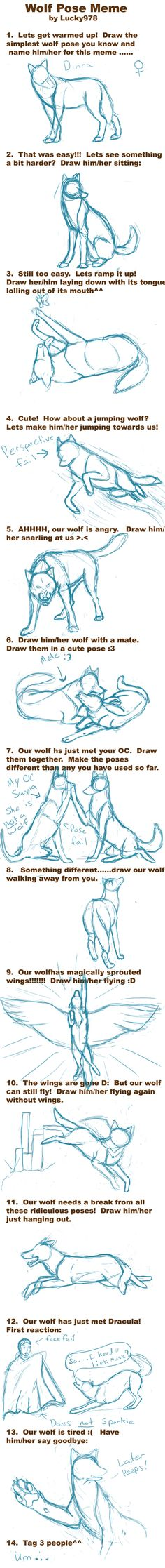 Wolf Pose Meme by *Dekeve on deviantART