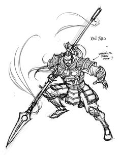 Xin-Zhao concept League of Legends