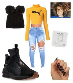"""Cuestión de tallas"" by ines-pereira-alonso on Polyvore featuring moda, Puma, Barneys New York y Happy Plugs"