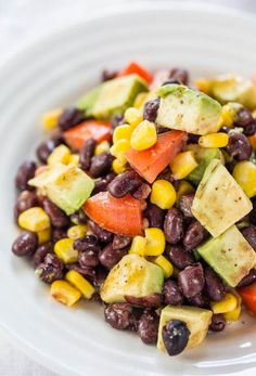 Avocado, Black Bean and Corn Salad with Lime-Cumin Vinaigrette - Everything tastes better with avocado!! Easy, healthy and tons of flavor!