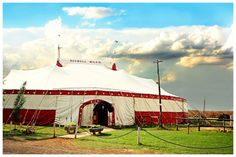 red and white wedding circus tent Circus Theme, Circus Party, Red And White Weddings, Carnival Wedding, United Way, Big Top, Outdoor Gear, Tent, Patio