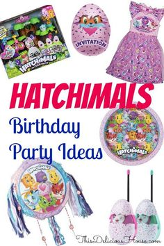 Hatchimals Birthday Party Ideas and Decorations. Don't miss this complete list of ideas and planning for a Hatchimals Birthday Party complete with food, party invites, and Hatchimals clothes and gifts. Jojo Siwa Birthday, Barbie Birthday Party, Trolls Birthday Party, Cool Birthday Cakes, Frozen Birthday Party, Unicorn Birthday Parties, 5th Birthday, Birthday Ideas, Elsa Birthday