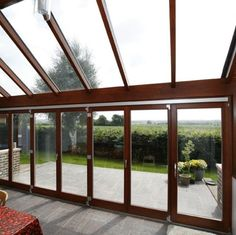 All glass #conservatory - nice use of bi-fold doors opening up onto the garden for further entertaining