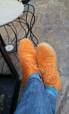 Orange shoes by Pedro