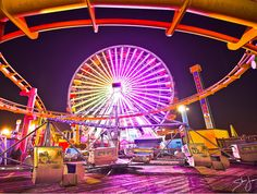 Ferris Wheel at Pacific Park on the Santa Monica Pier Want a Ride? Santa Monica, Navy Pier Chicago, I Love La, Living In La, Park Photography, City Of Angels, Road Trippin, Travel Memories, Travel Posters
