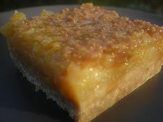 No refined sugar lemon bars--drool. Crust with almond flower and arrowroot at bottom of post.