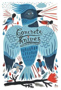 Concrete knives, Rock en Seine Festival poster, Paris 2011