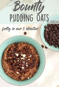 Yummy Chocolate-Coconut Oatmeal-Pudding – Pudding Oats – Eine Prise Lecker If you like porridge, you will love these pudding oats. Chocolate meets coconut and pudding powder makes it incredibly creamy. Finished in just 5 minutes. Protein Pudding, Pudding Oats, Apple Smoothies, Healthy Smoothies, Smoothie Recipes, Healthy Snacks, Dessert Oreo, Dessert Recipes, Desserts