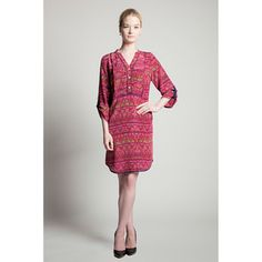 Sharyn Dress-Needle Point Ikat by 81Poppies on Opensky