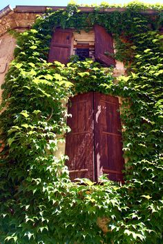 Shuttered Windows, Lourmarin, Provence