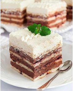 Rafaello na krakersach - I Love Bake Jaffa Cake, Food Cakes, Coleslaw, Vanilla Cake, Tiramisu, Cake Recipes, Cheesecake, Food And Drink, Nutella