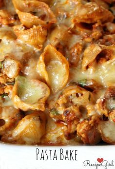 Easy Baked Cheesy Pasta #recipe