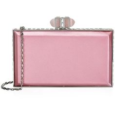 Judith Leiber Satin Box Clutch ($2,135) ❤ liked on Polyvore featuring bags, handbags, clutches, judith leiber, bolsas, carteiras, box clutch, judith leiber handbags, judith leiber purses and satin clutches