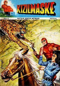 - KIZILMASKE İLK MACERA Phantom Comics, Lady Diana, Comic Book Covers, My Childhood, Westerns, Nostalgia, Islam, Cartoon, Illustration