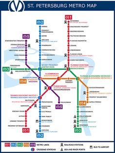 Saint-Petersburg Metro Map | postcrossing.com