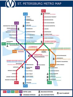 Saint-Petersburg Metro Map | postcrossing.com