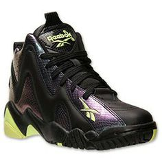 Reebok Kamikaze II Basketball Shoes Color: Nocturnal/Neon Yellow/Black