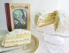 Uncle Monty's Coconut Cake from our Series of Unfortunate Events menu!