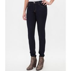 Flying Monkey Skinny Stretch Jean ($50) ❤ liked on Polyvore featuring jeans, blue, super skinny jeans, zipper skinny jeans, stretch jeans, skinny leg jeans and skinny fit jeans