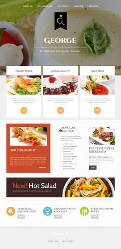 European Cuisine Joomla Template
