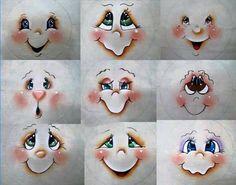 Resultado de imagem para Cute Snowman Faces to Paint Snowman Faces, Cute Snowman, Snowman Crafts, Christmas Projects, Holiday Crafts, Clay Pot Crafts, Diy And Crafts, Arts And Crafts, Noel Christmas